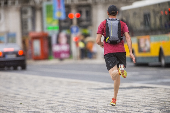 Florentin LeProvost Running in the City of Lisbon Portugal