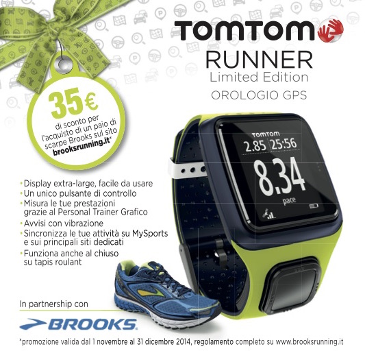 volantino TomTom Runner Limited Edition