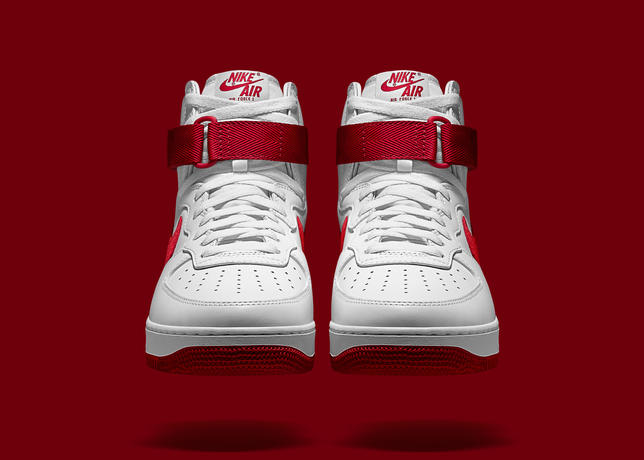 air force 1 suola rossa